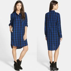 Madewell Latitude BuffaloPlaid Flannel Shirt Dress